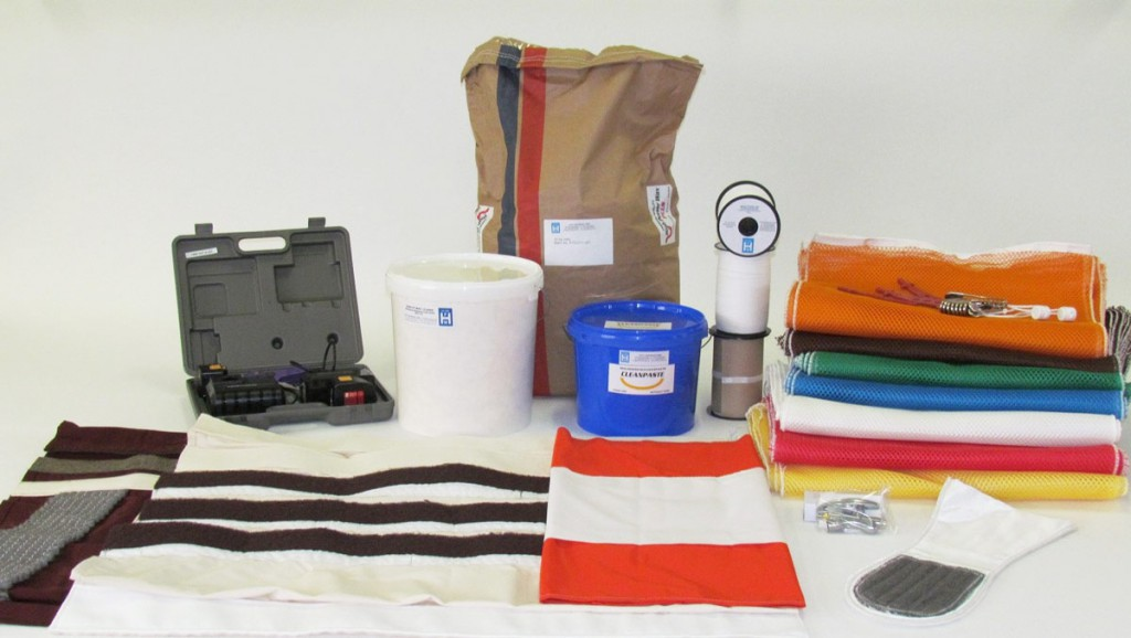 Accessories for industrial laundries