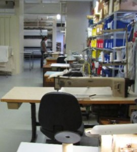 Konfektionsbereich für technische Textilien